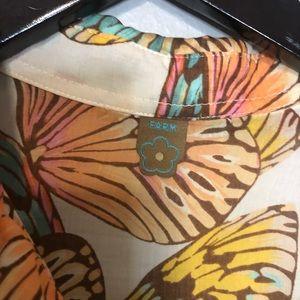 FARM Rio Tops - Farm Rio butterfly print cropped top